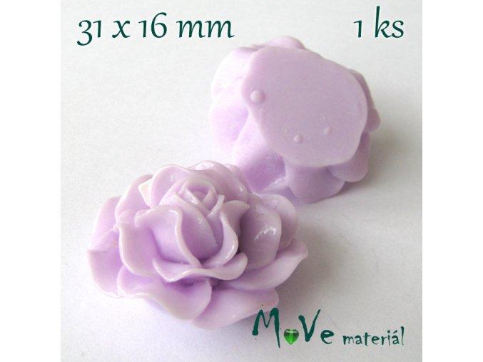 Kabošon lesklý K4 - resin - 1ks, fialový