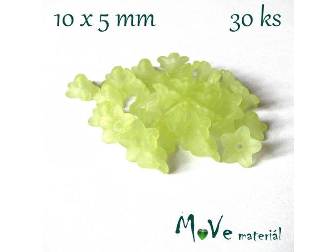 Zvonečky transparentní mat. 10x5mm, 30ks, zelené