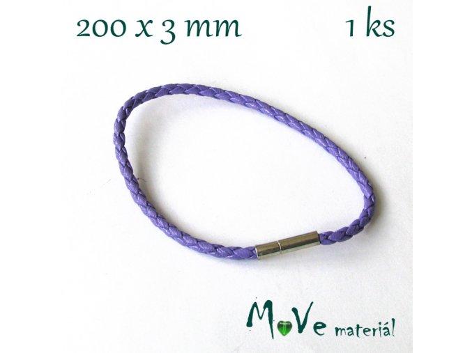 Splétaná šňůrka se zapínáním, 1ks, fialová