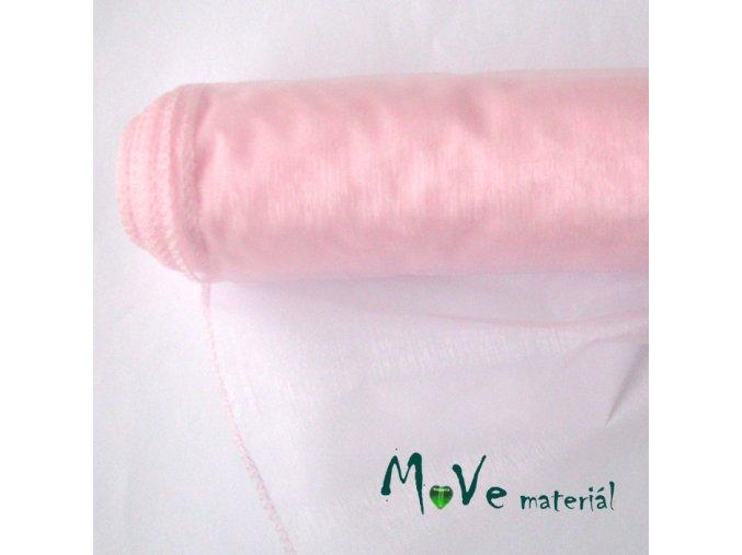 Organza bledě růžová š. 35 cm/ 1m