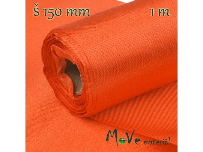 Satén š.15 cm/ 1m, oranžový