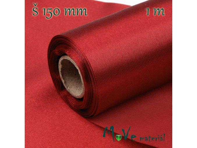 Satén š.15 cm/ 1m, červený