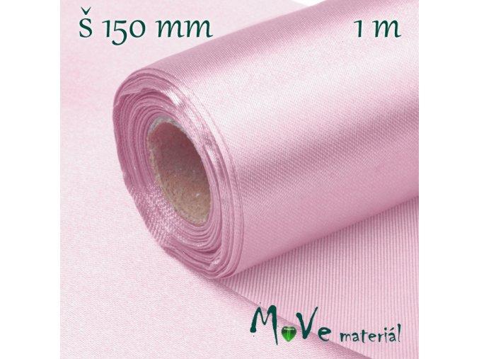 Satén š.15 cm/ 1m, sv. fialový
