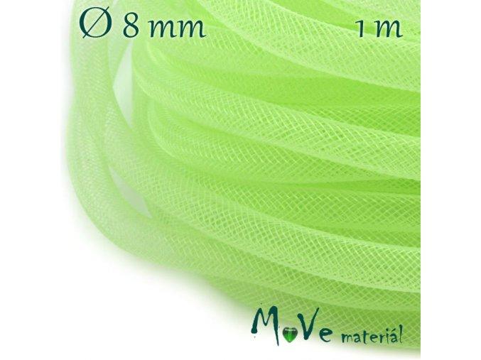 Modistická krinolína dutinka 8mm, 1m, zelená