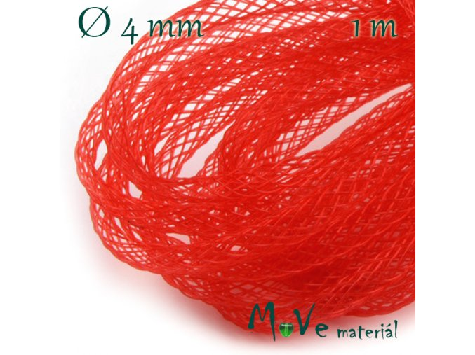 Modistická krinolína dutinka 4mm, 1m, červená