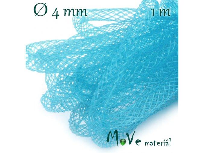 Modistická krinolína dutinka 4mm, 1m, tyrkysová