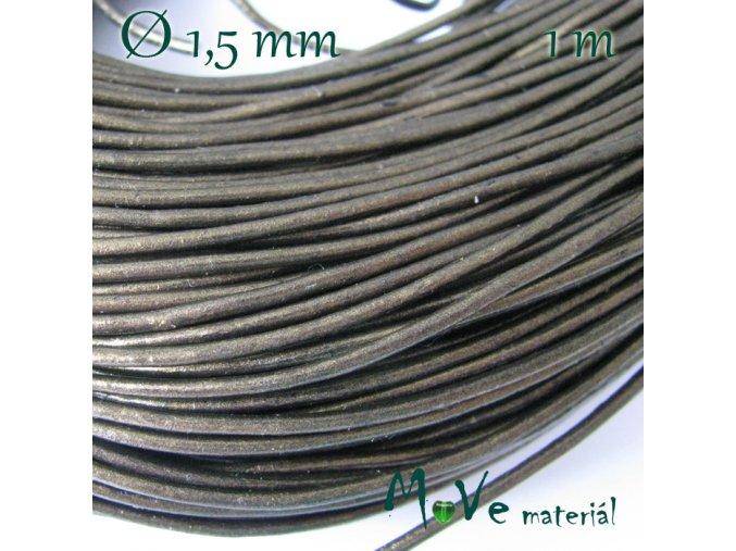 Kulatá přírodní kůže 1,5mm/1m, bronzová