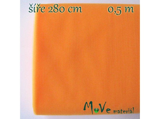 svatební tyl jemný neon. oranžový 50cm/ š 280cm
