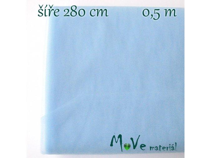 svatební tyl jemný sv. modrý 50cm/ š 280cm