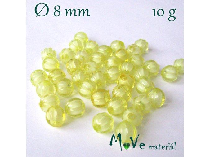 Korálek plast kulička 8mm/10g, žlutý