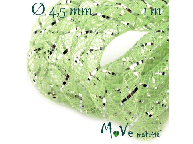 Modistická dutinka s lurexem 4,5mm, 1m, zelená