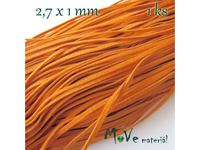 Plochá syntetická kůže, 1m, oranžová