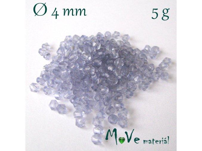 Korálek plast - sluníčko 5mm, cca 120ks, sv. modré