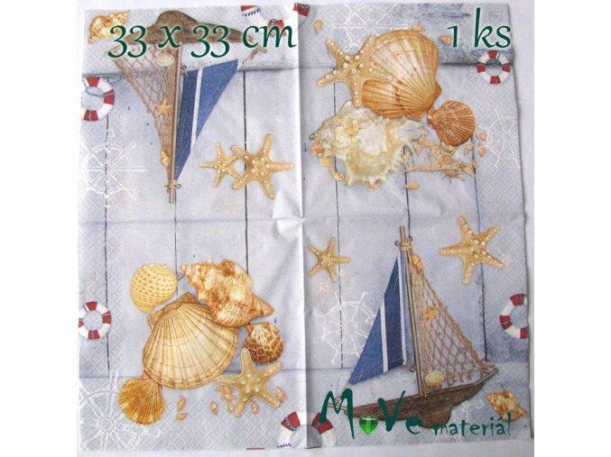 Ubrousek na decoupage 33 x 33cm 1ks, navy