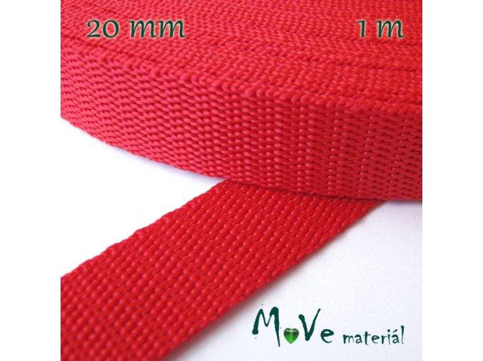Popruh polypropylénový šíře 20mm, 1m, červený
