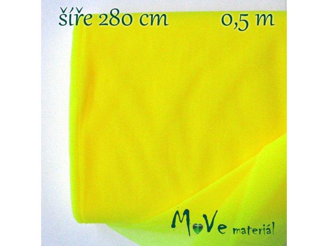 svatební tyl jemný neon. citronová 50 cm/ š280 cm