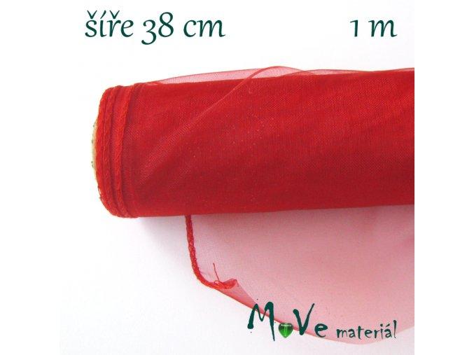 Organza š. 38 cm/ 1m, červená