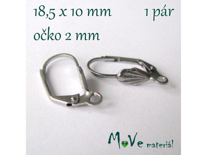 Naušnicové háčky s očkem (1pár), ocel