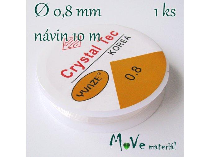Vlasec silikon elastický 0,8mm/10m průhledný