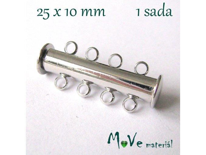 Magnetické zapínání 25x10mm 1sada, platina