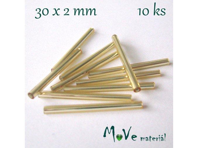 Rokajl 30x2mm, 10ks, tyčky, zlaté