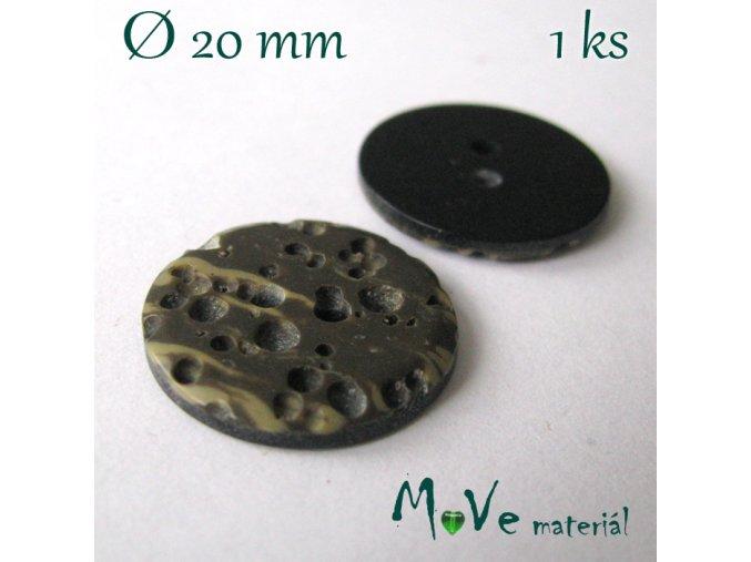 Knoflík ozdobný dvoudírkový 20mm/1ks