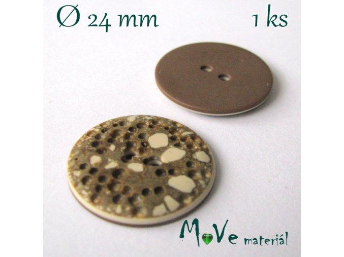 Knoflík ozdobný dvoudírkový 24mm/1ks