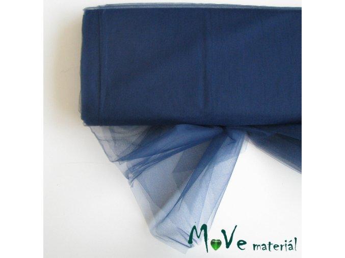 svatební tyl jemný tmavě modrý 50 cm/ š280 cm