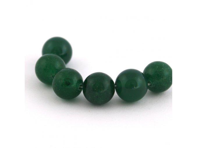 Achát - 10mm/3ks, zelený