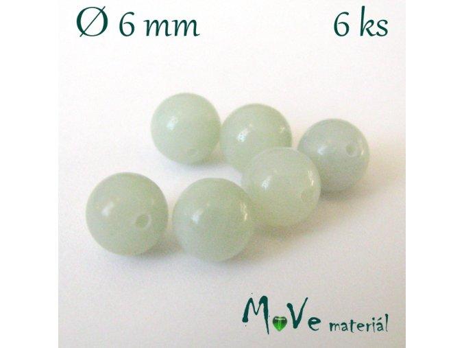 Amazonit- 6mm/6ks, zelený