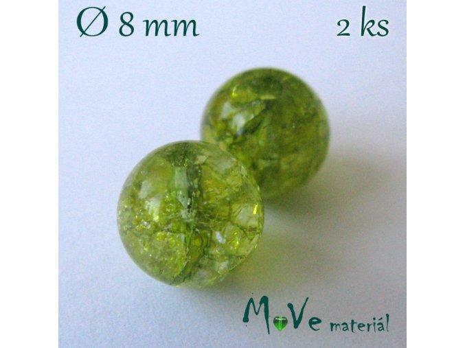 Olivín - 8mm/2ks, zelený