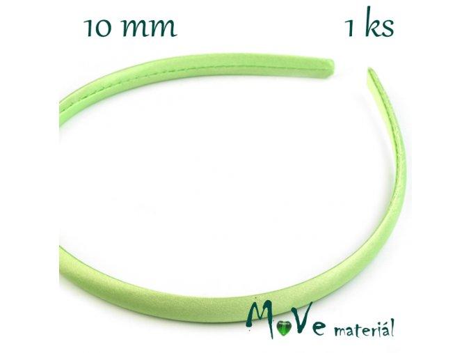 Čelenka jednoduchá potažená sv. zelená 10mm