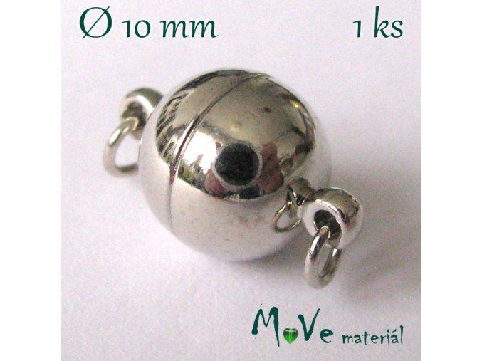 Zapínání magnetické 10mm 1ks, platina
