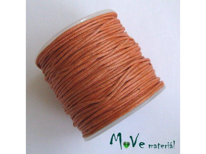 Šňůra voskovaná bavlněná 1mm, 3m, oranžová