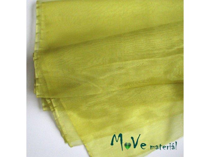 Organza žlutá 140cm/ 20 cm - 1