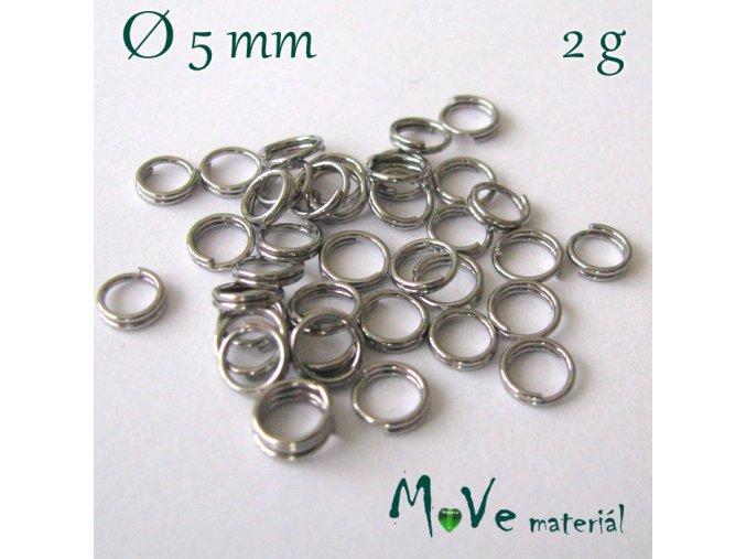 Dvojitý spojovací kroužek 5mm/2g, nerez ocel