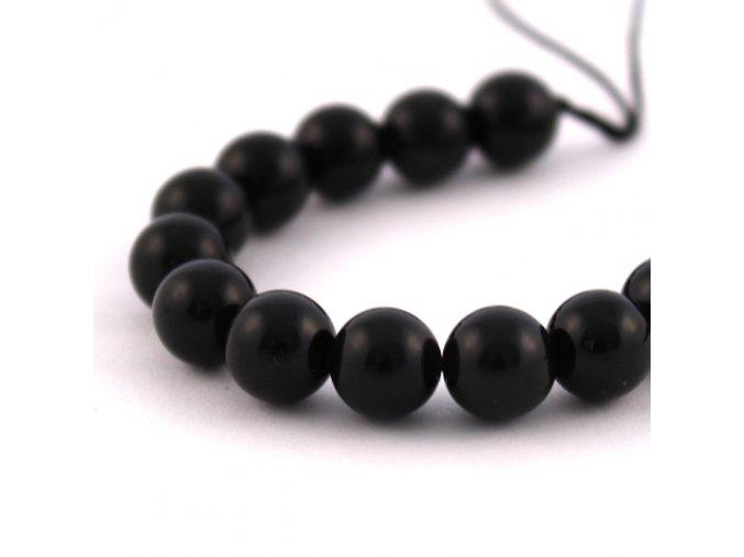 Obsidián - 8mm/4ks, černý