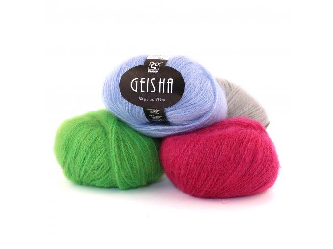 Geisha - vlna, mohér, akryl