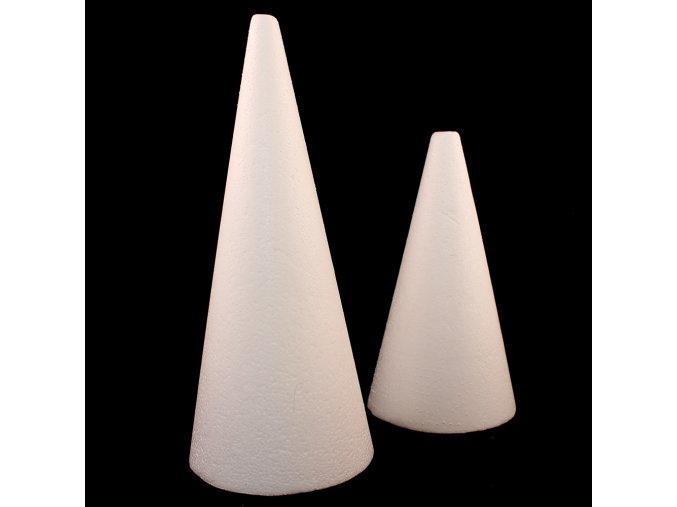 Kužel polystyren - různé velikosti