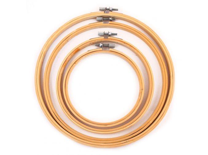 Vyšívací kruh bambusový - různé velikosti