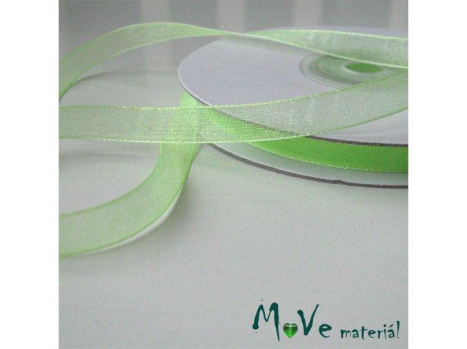 Šifónová stuha sv. zelená 6mm, 1m