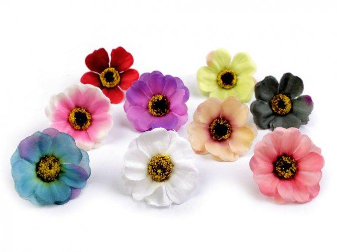 Umělý květ čajová růže Ø50 mm - různé barvy