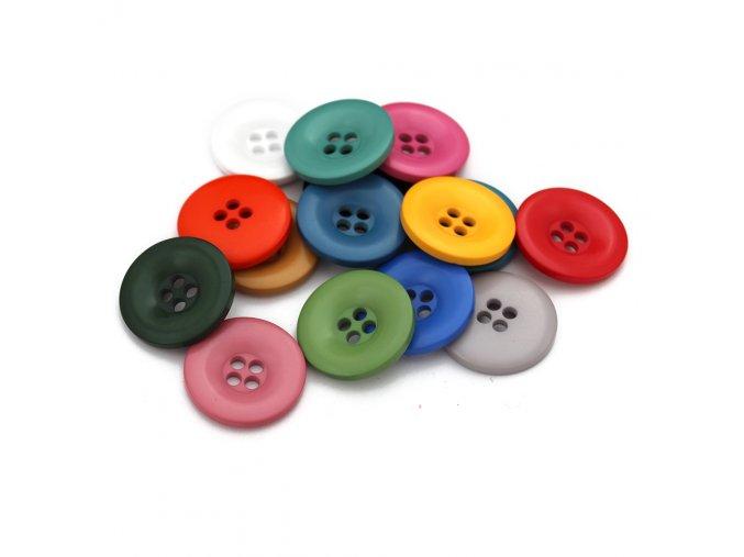 """Knoflík čtyřdírkový - 52"""" - 33,02mm - různé barvy"""