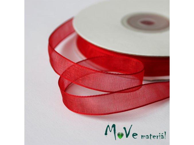 Šifónová stuha červená 9mm, 1m