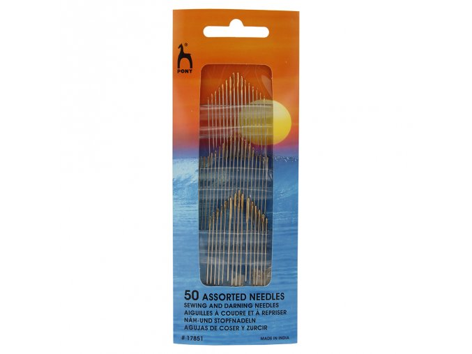 50 Assorted needles sewing and darning needles #17851 čtverec
