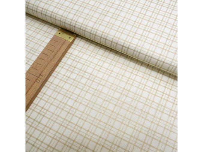 Bavlněné plátno - Kostka zlatá - šíře 140cm/1bm