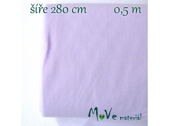 svatební tyl jemný světle fialový 50 cm/ š280 cm