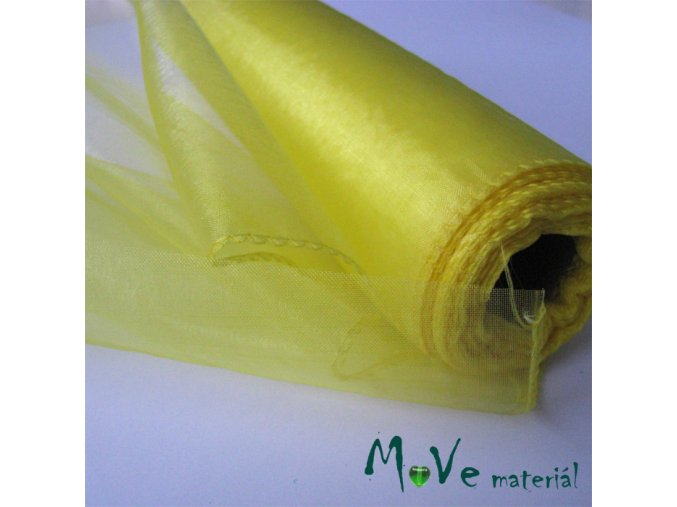 organza žlutá š. 21 cm/ 1m