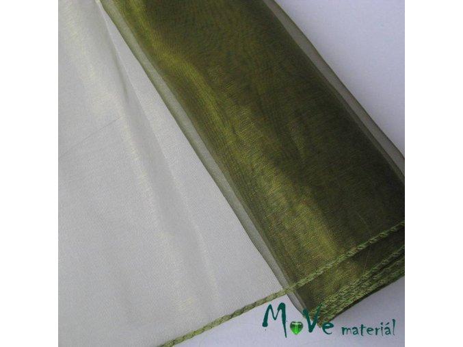 organza zelená š. 38 cm/ 1m