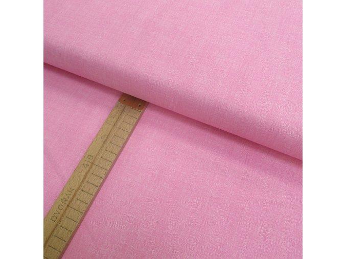 Bavlněné plátno - růžová lněná půda - šíře 150cm/1bm